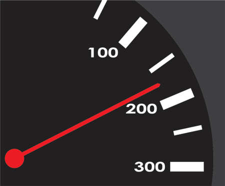 Scale of a speedmeter. A vector illustration. Vector