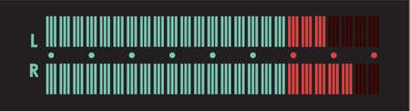 oscillation: El indicador de los equipos musicales. Una ilustraci�n vectorial.