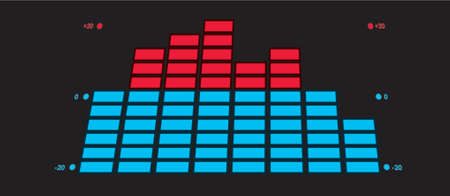 The indicator of the musical equipment. A vector illustration. Vector