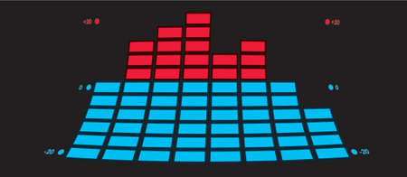 oscillation: The indicator of the musical equipment. A vector illustration.
