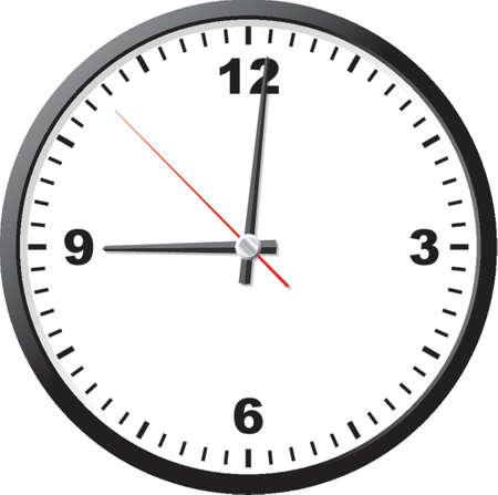 office clock: Oficina de reloj. Una ilustraci�n vectorial. Es aisladas sobre un fondo blanco.