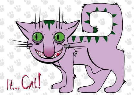It... Cat! Cartoon. Vector illustration. Stock Vector - 1647706