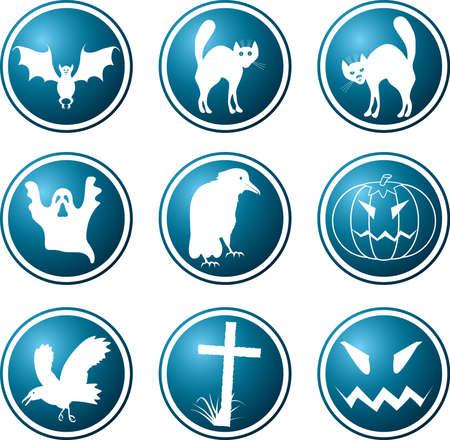 Icons. A theme of a Halloween. A vector illustration. Vector