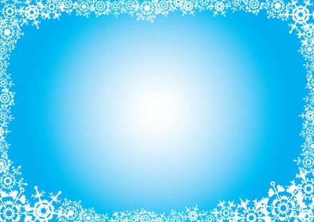 Snowflakes. A blue background for a card (letter). A vector illustration Stock Vector - 1977599