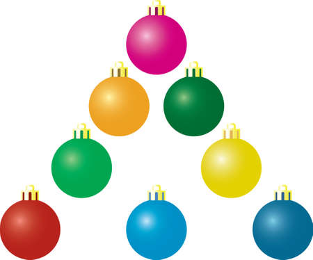 Christmas matte balls. A vector illustration. It is isolated on a white background. Stock Vector - 1998969