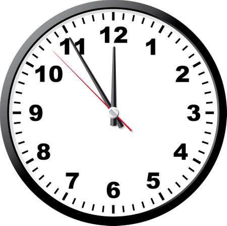 office clock: Oficina de reloj. Una ilustraci�n vectorial. Es aislados sobre un fondo blanco.