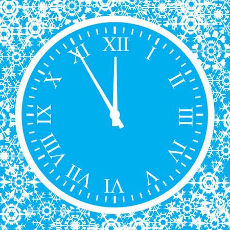 o'clock: 5 minutes up to . Background. A vector illustration. Illustration