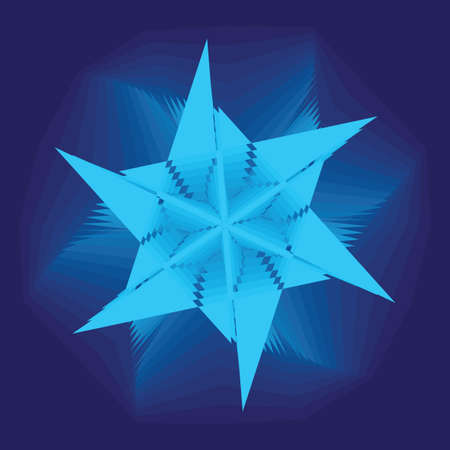 asymmetrical: Asymmetrical geometrical patterns (a snowflake or a star or a galaxy), a background, the vector illustration.