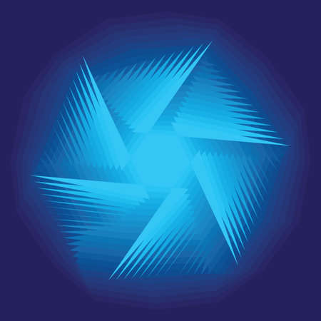 Asymmetrical geometrical patterns (a snowflake or a star or a galaxy), a background, the vector illustration. Vector