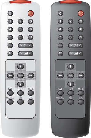 Remote control the TV. Vector illustration. Isolated on white background. Vector