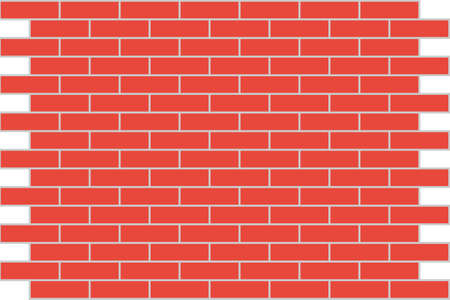 red brick repetition: Wall from a red brick. A background. A vector illustration.