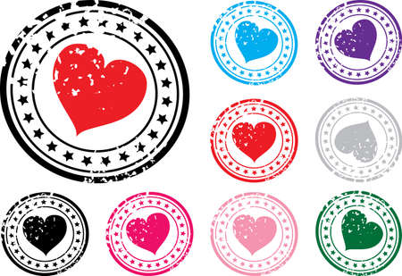 Stamp with the image of heart. A vector illustration. Stock Vector - 2360078