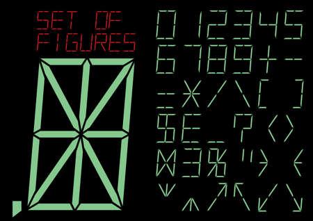 digitals: Special symbols and digitals. A vector illustration.