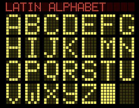 luminescence: Latin alphabet. Indicator. A vector illustration. Illustration