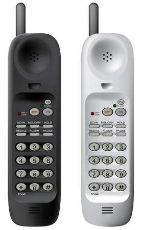 converse: Von Mobiltelefonen. Vector Illustration. Isoliert auf wei�em Hintergrund.