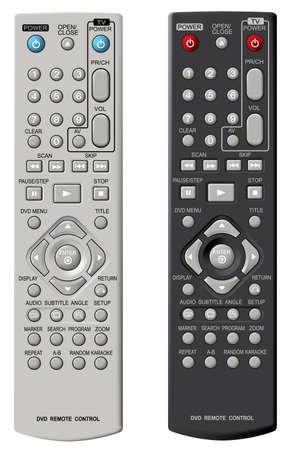Télécommande de DVD. Vector illustration.