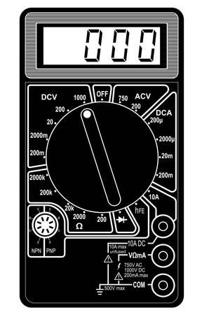 Digital multimeter. Vector illustration. Isolated on white background. Vector