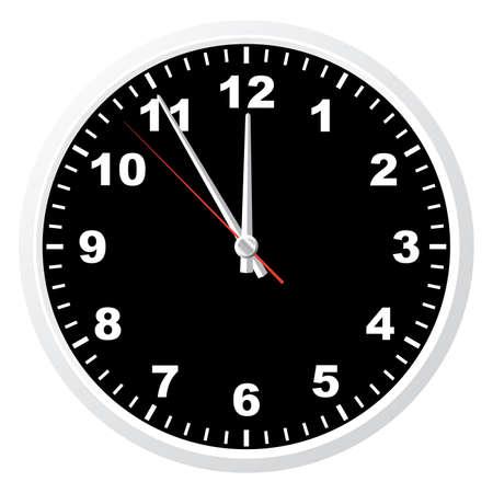 office clock: Oficina de reloj. Ilustraci�n vectorial. Aislado en fondo blanco.