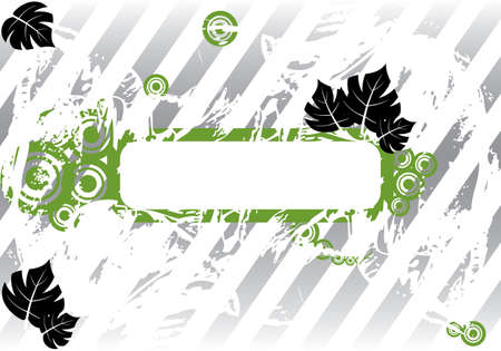 Abstract grunge background. Leaves and flower. Vector illustration.