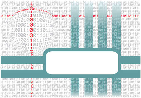 Abstract background. The binary text. Vector illustration. Vector