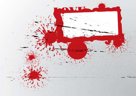 Abstract grunge background. Red and gray. Vector illustration. Vector