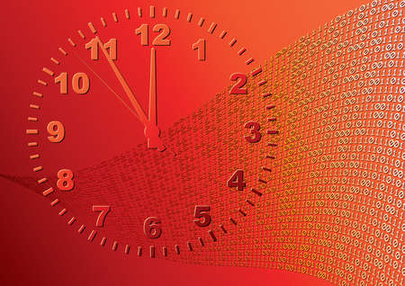 Abstract orange background. Time. Vector illustration. Vector