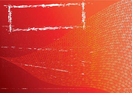 Abstract orange background. Label. Grunge. Illustration. illustration