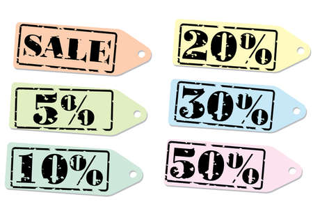 Set of labels for the discount. Vector illustration. Isolated on white background. Stock Vector - 2599519