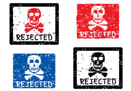 Rejected stamp with image of skull. Vector illustration. Stock Vector - 2640059
