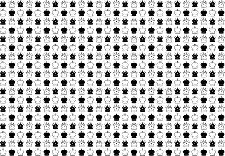 Background set of chess game. Vector illustration. Black-and-white. Vector
