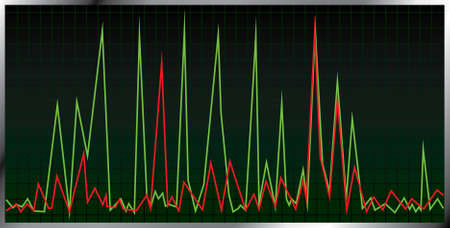 oscillation: Gr�fico oscilaci�n. Ilustraci�n vectorial.