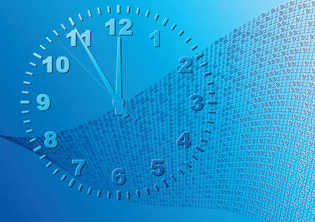 Abstract blue background. Time. Vector illustration. Vector