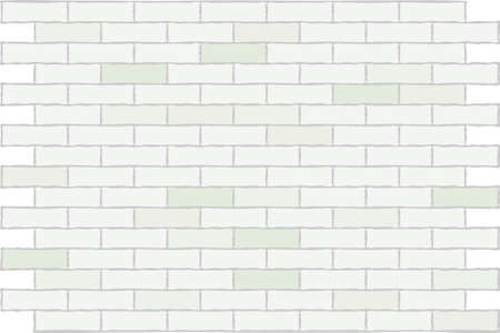 Wall from a white brick. A background. A vector illustration.  Vector