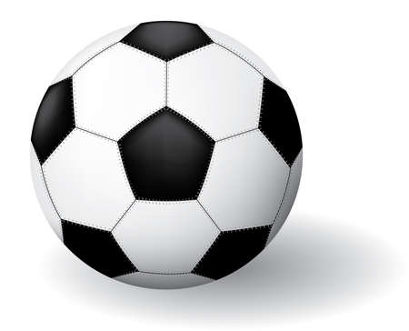 Soccer ball. Vector illustration. Isolated on white background. Stock Vector - 3148365