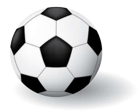 uefa: Soccer Balls. Vector Illustration. Isoliert auf wei�em Hintergrund.