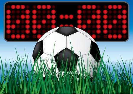illustartion: Beginning soccer game. Vector illustartion.