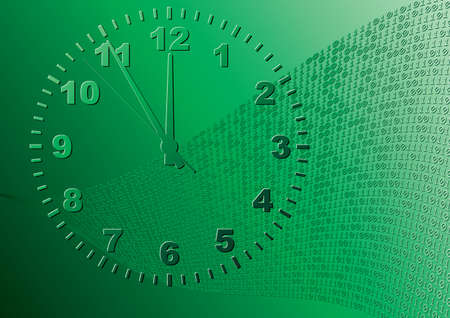 Abstract green background. Time. Vector illustration. Vector