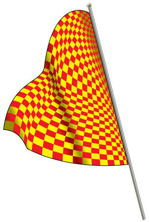 Yellow-red racing flag. Vector illustration. Vector