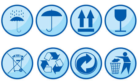 fragile industry: Symbols for packing subjects. Vector illustration. Illustration