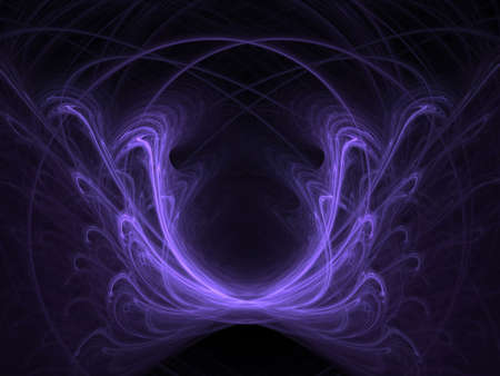 ghost face: Violet ghost face. Abstract. Raster fractal graphics. Stock Photo