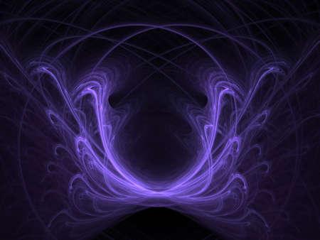 ghost face: Violetta fantasma faccia. Astratta. Frattale grafica raster.