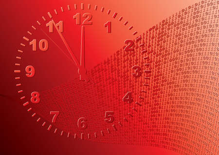 Abstract red background. Time. Vector illustration. Vector