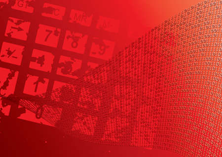 Abstract red background. Dial. Grunge. Vector illustration. Vector
