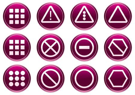 Gadget icons set. Purple - white palette. Vector illustration. Vector