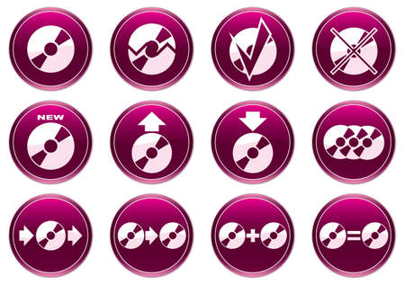 Gadget icons set. Purple - white palette. Vector illustration. Stock Vector - 3547168