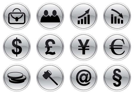 Gadget icons set. Gray - black palette. Vector illustration. Stock Vector - 3587520
