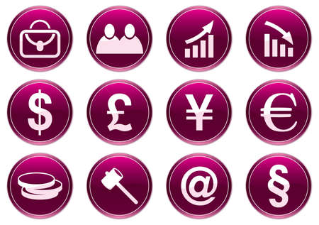 Gadget icons set. Purple - white palette. Vector illustration. Vector