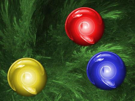 christmass: ChristmassTree. Multicolor palette. Raster fractal graphics.