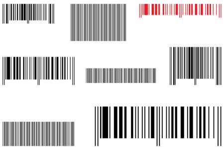 Samples selling barcode. Vector illustration.
