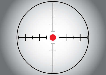 Gray sniper target. Vector illustration.